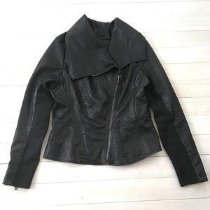 Blank NYC sz Medium Motorcycle Jacket Faux Leather